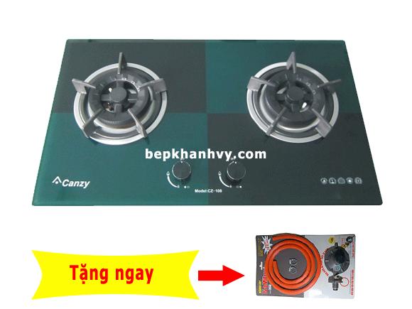 Bếp gas âm Canzy CZ 108 Xanh Đen