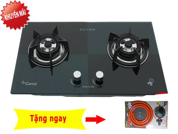 Bếp gas âm Canzy CZ 268 xanh đen